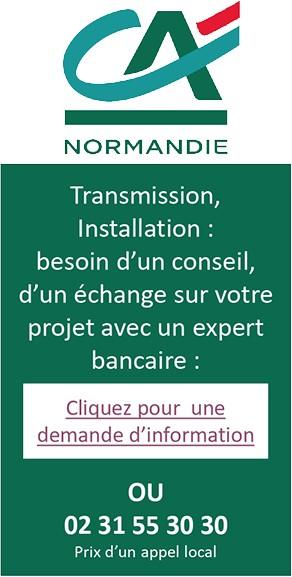 Transmission - Crédit Agricole, contact, crédit bancaire - Jeunes Agriculteurs du Calvados